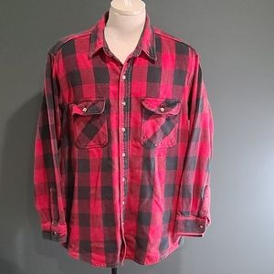 (2) Five Brother Buffalo Plaid Flannel Shirts XL-T